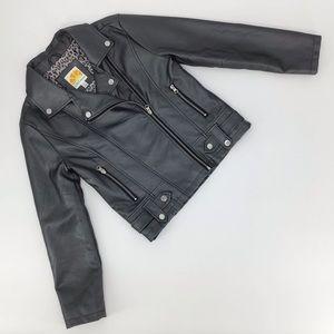 C&C California Girl's Vegan Leather Moto Jacket 12